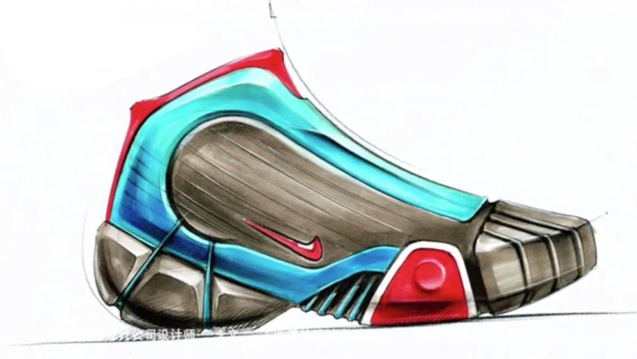 nike鞋概念手绘设计,产品手绘快速表达